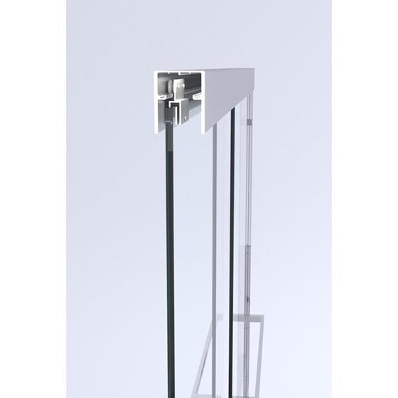 Square Style Bypass Shower Door Kit 2