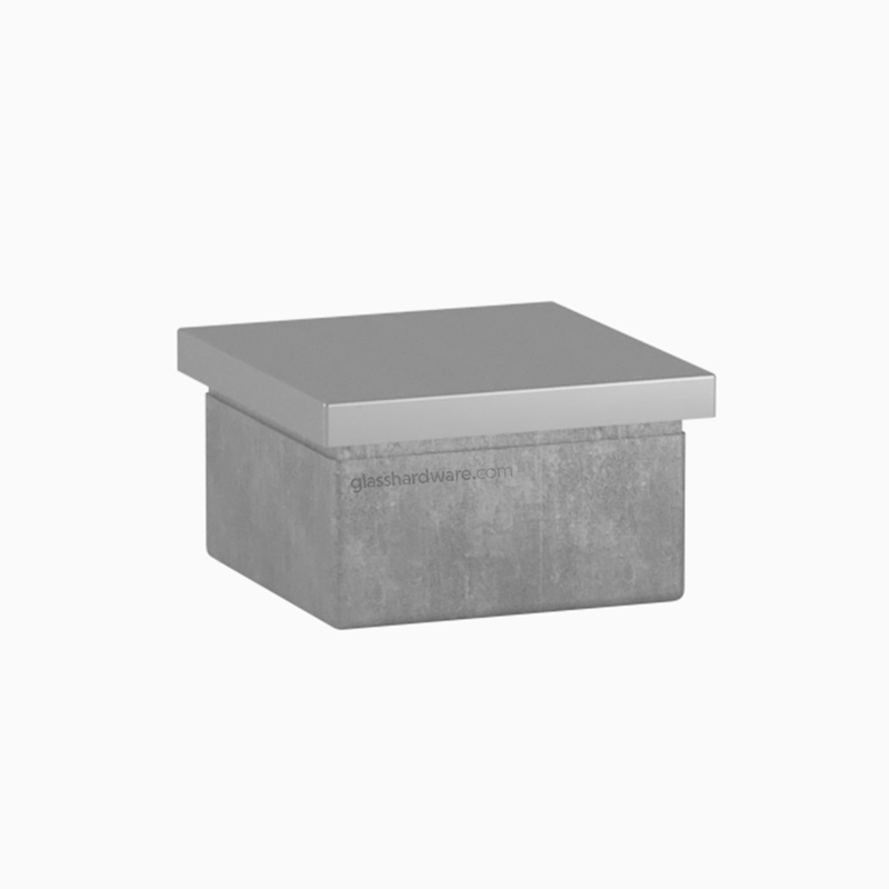 Square Flat End Cap For 1.5 Square Post 2