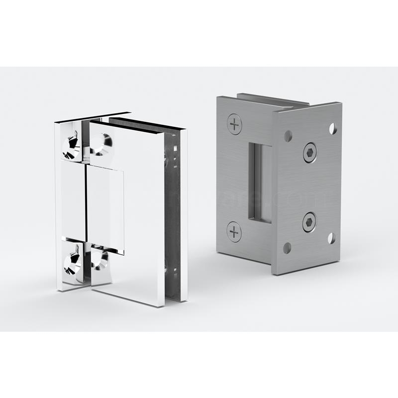 IGT Wall to Glass Full Back Plate Hinge 2