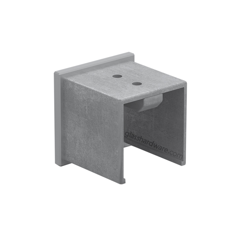 Squared End Cap For Slotted Tube 1-9/16 S.S 316 2