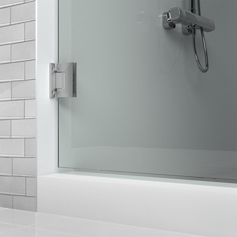IGT Wall to Glass H Back Plate Hinge 4